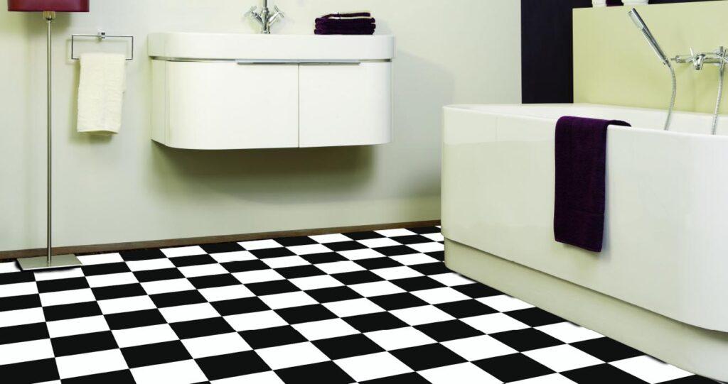 Vinyl tiles - black and white