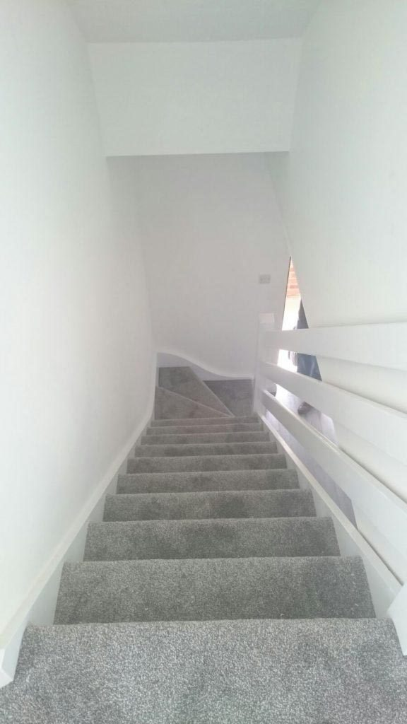 Delightful Grey Saxony Stairs Fitted In Burgess Hill
